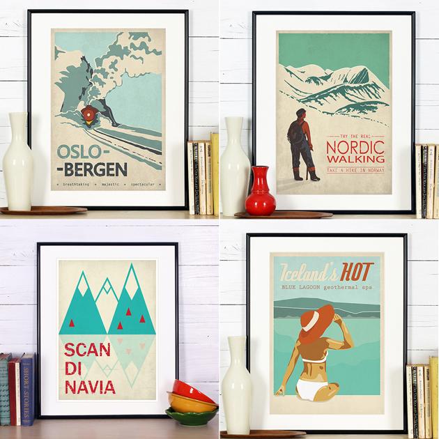 Retro Reise Poster