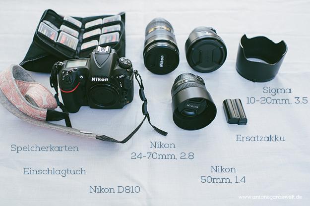 Ausrüstung Fotografie Reise