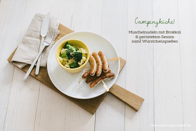 Nudeln Brokkoli Würstchen Was kochen im Campingurlaub