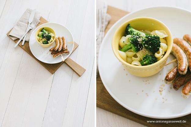 Nudeln Brokkoli Würstchen Was kochen im Campingurlaub 2