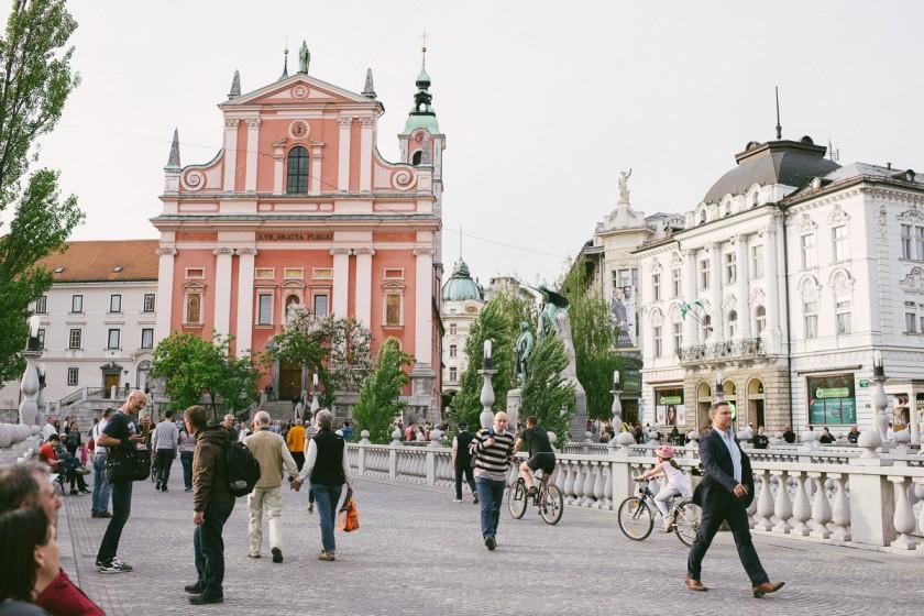 Ljubljana Altstadt Wochenendtripp Städtereise
