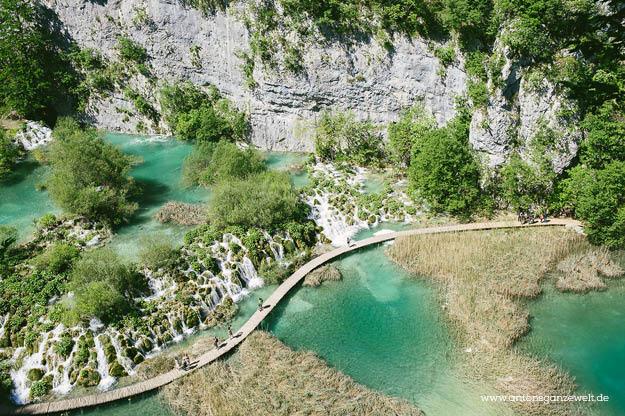 Plitvicer Seen in Kroatien mit Kindern