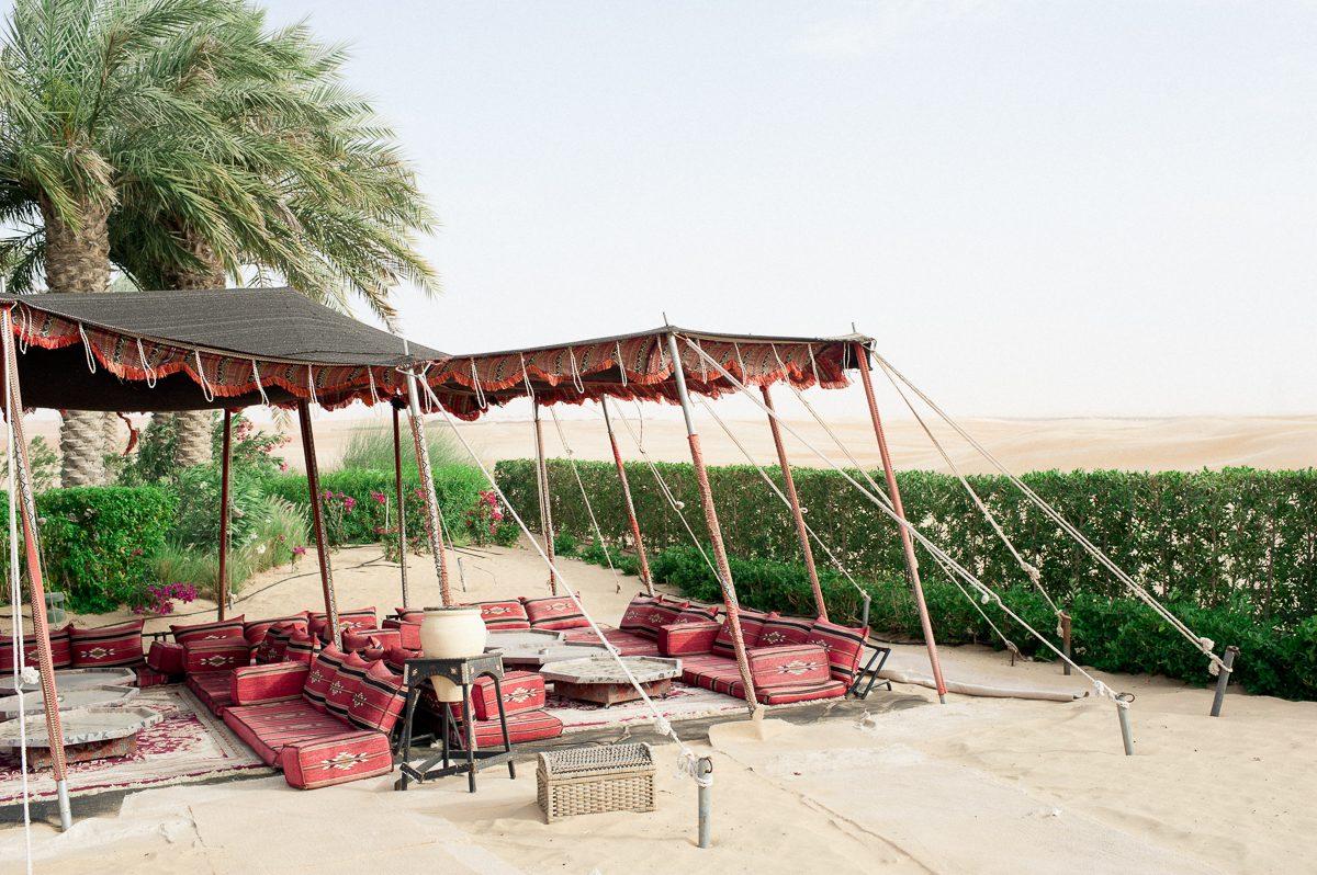 Beduinen Zelt in der Wüste Abu Dhabis