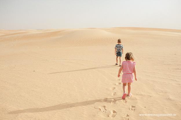 Wüste und Oasen in Abu Dhabi mit Kindern entdecken