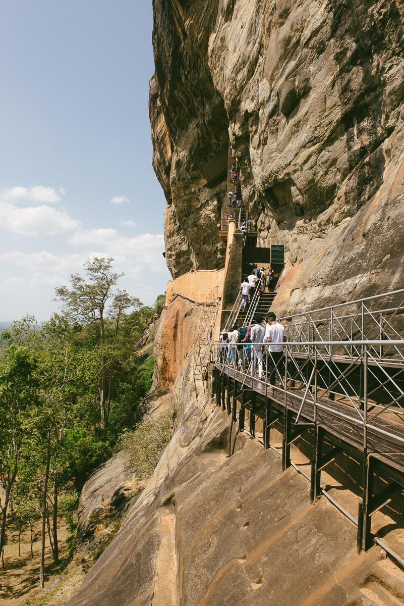 Sigiriya Aufstieg Treppen