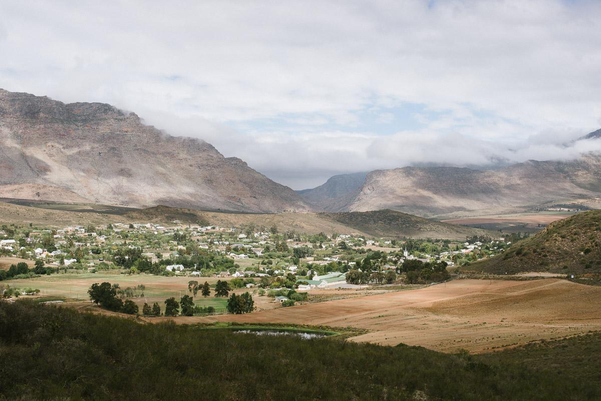Weite Landschaft einer Halbwüste